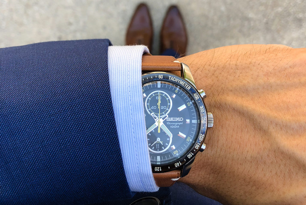 seiko chronograph main gauche